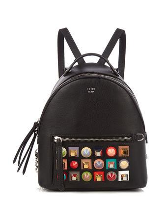 Fendi Embellished mini leather backpack