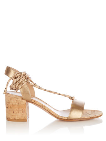 Gianvito Rossi Ankle-tie leather sandals