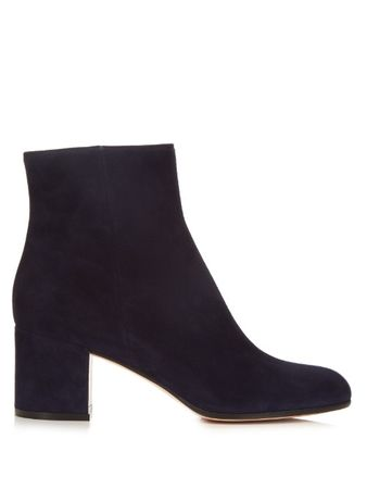 Gianvito Rossi Margaux block-heel suede ankle boots black