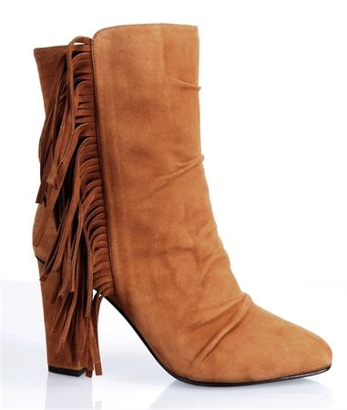 Giuseppe Zanotti Alabama Suede Fringed Boots brown
