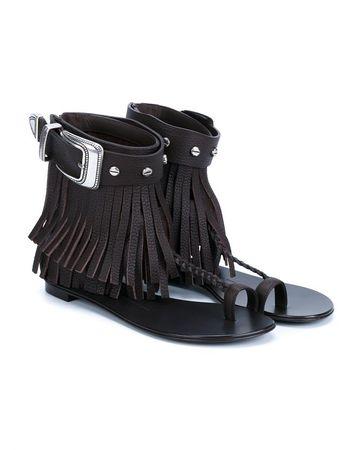 Giuseppe Zanotti Fringed Sandals black