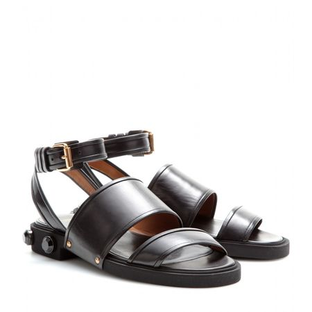 Givenchy Crystal-embellished Leather Sandals black