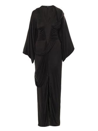 Givenchy Draped jersey dress black