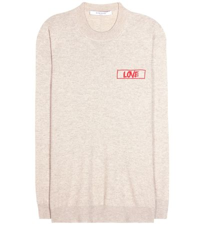 Givenchy Embroidered Cashmere Sweater white