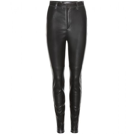 Givenchy Leather Trousers gray