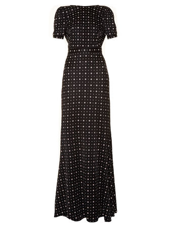 Givenchy Micro geometric-print jersey maxi dress