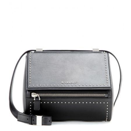 Givenchy Pandora Box Medium Leather Shoulder Bag gray