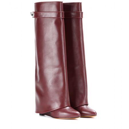 Givenchy Pant Leather Wedge Boots brown