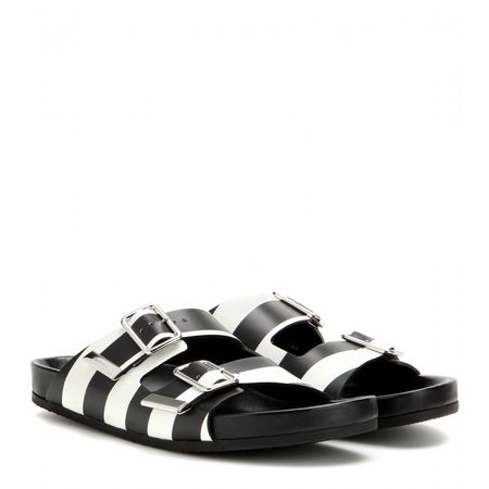 Givenchy Printed Leather Sandals black