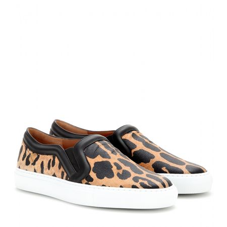 Givenchy Printed Leather Slip-on Sneakers white