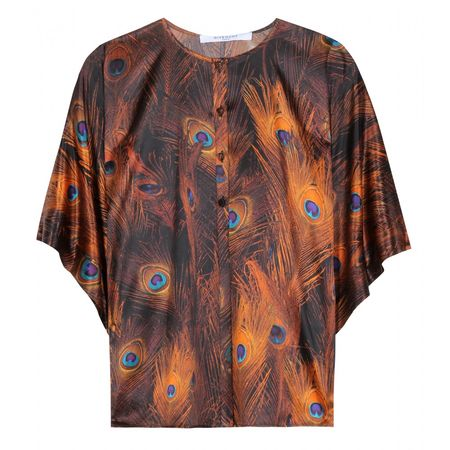 Givenchy Printed Silk Blouse brown