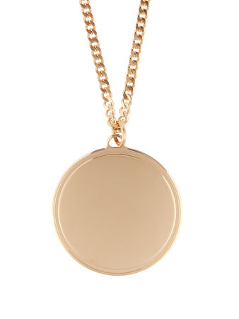 Givenchy Round disk necklace