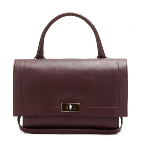Givenchy Shark Small Leather Tote brown