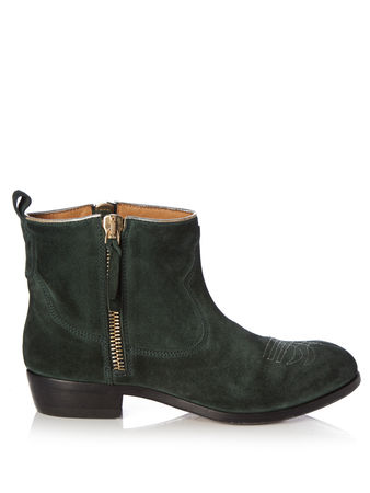 Golden Goose Anouk Western distressed-suede ankle boots