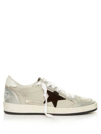 Golden Goose Ball Star low-top cord trainers