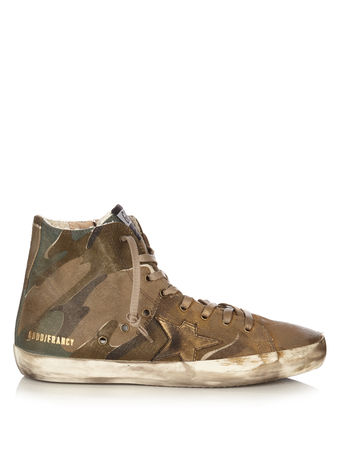 Golden Goose Francy camouflage-print high-top canvas trainers