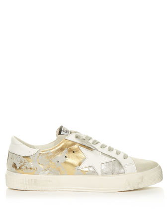 Golden Goose May low-top leather and suede trainers