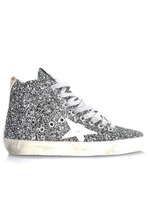 Golden Goose Sneakers Francy All Over Glitter gray
