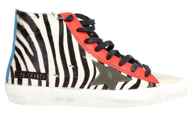 Golden Goose Sneakers Francy Zebra white