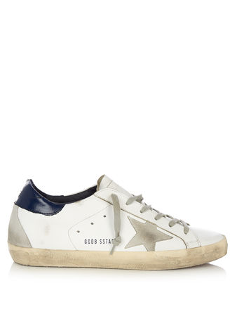 Golden Goose Super Star low-top leather and suede trainers