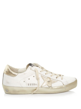 Golden Goose Super Star Sparkle low-top leather trainers