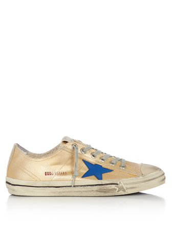 Golden Goose V-star low-top canvas trainers