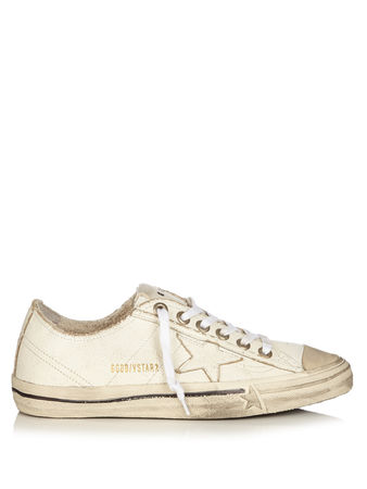 Golden Goose V-star low-top leather trainers