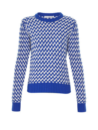 Golden Goose Zigzag-intarsia crew-neck sweater