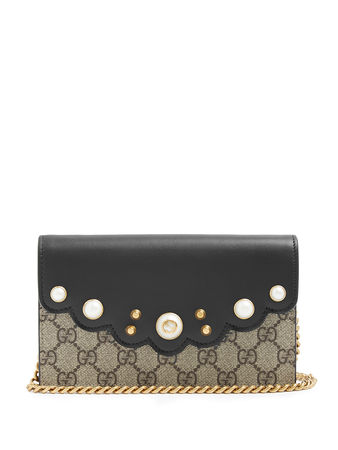 Gucci GG Supreme chain wallet