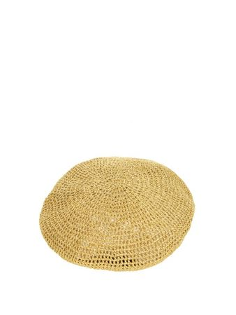 Gucci Metallic knitted beret white