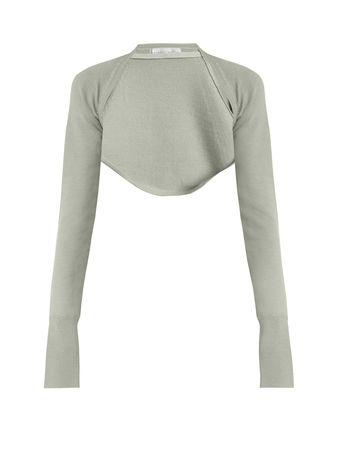 Palmer // Harding Open-front cropped wool-knit top