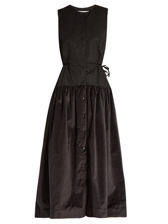 Palmer // Harding Sleeveless poplin and velvet shirtdress