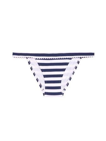 Heidi Klein Palermo striped bikini briefs white