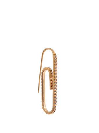 Hillier Bartley Cubic-zirconia and gold-plated earring