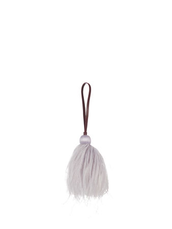 Hillier Bartley Ostrich-feather tasselled bag charm