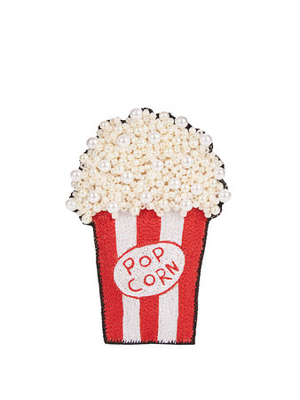 Huda Al Nuaimi Bead-embellished popcorn brooch