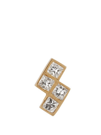 Ileana Makri Diamond & yellow-gold earring