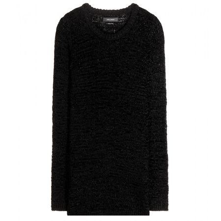 Isabel Marant Breezy Crochet-knit Sweater black