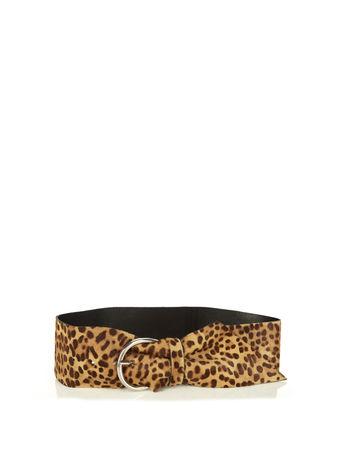 Isabel Marant Yanis leopard calf hair belt