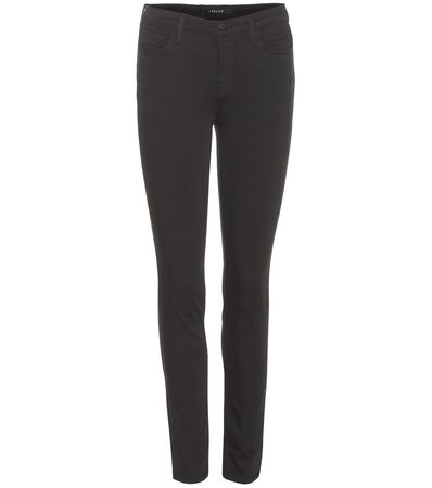 J Brand Mid-rise Skinny Leg Jeans gray