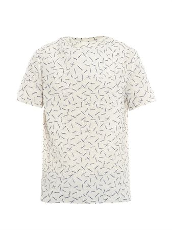 J. W. Anderson Embroidered jacquard top gray