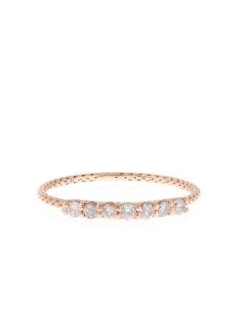 Jacquie Aiche White diamond & rose-gold ring white
