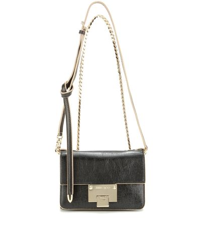Jimmy Choo Rebel Soft Mini Leather Shoulder Bag gray