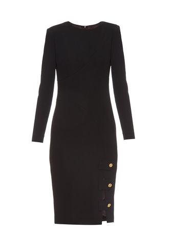 La Mania Antares long-sleeved crepe dress