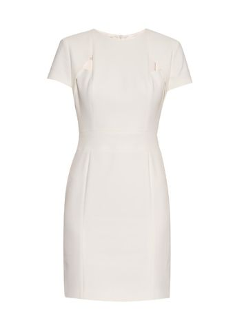 La Mania Senso cut-out crepe dress white