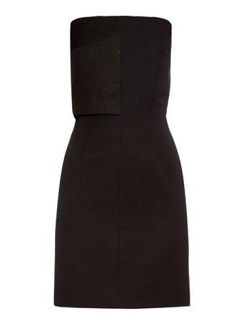 La Mania Valentina strapless wool dress black