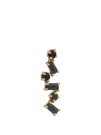 Loren Stewart Onyx & yellow-gold earring