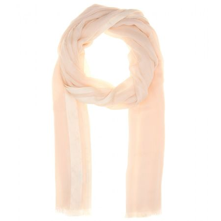 Loro Piana Shadow Soffio Cashmere And Silk-blend Scarf yellow