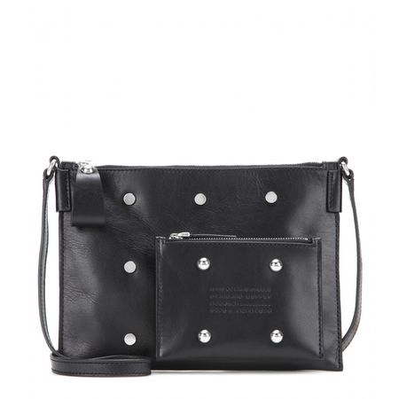 Marc by Marc Jacobs Embellished Leather Shoulder Bag gray
