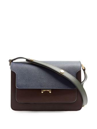 Marni Trunk medium colour-blocked leather shoulder bag